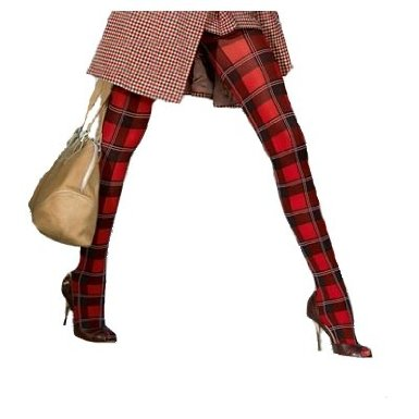 Tartan Tights Red colour