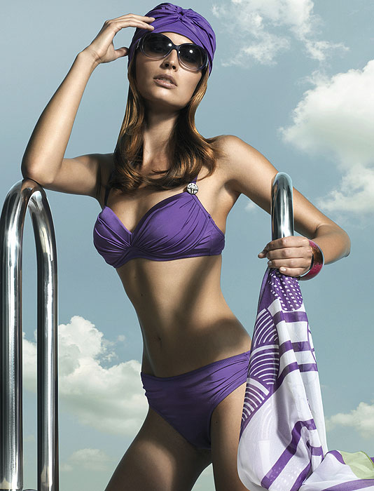 Feraud Paris Purple Bikini Rouched