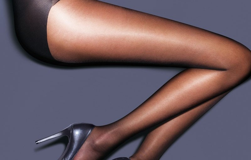 Tights with a sheer shine