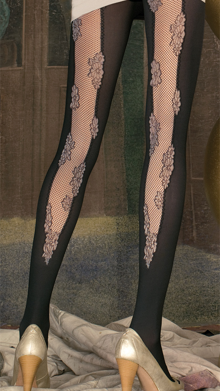 Trasparenze tights with open backseam