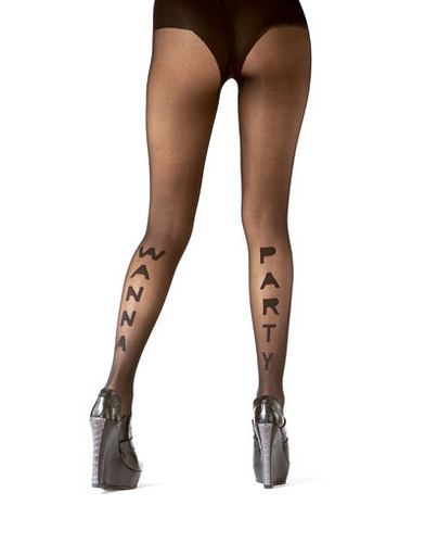 Want to Party Print Tights