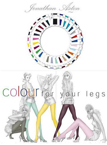 Colour palette for legwear