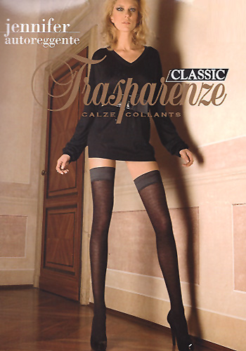 Jennifer Autoreggente Transparenze Classic Wool Holdups Calze Collants