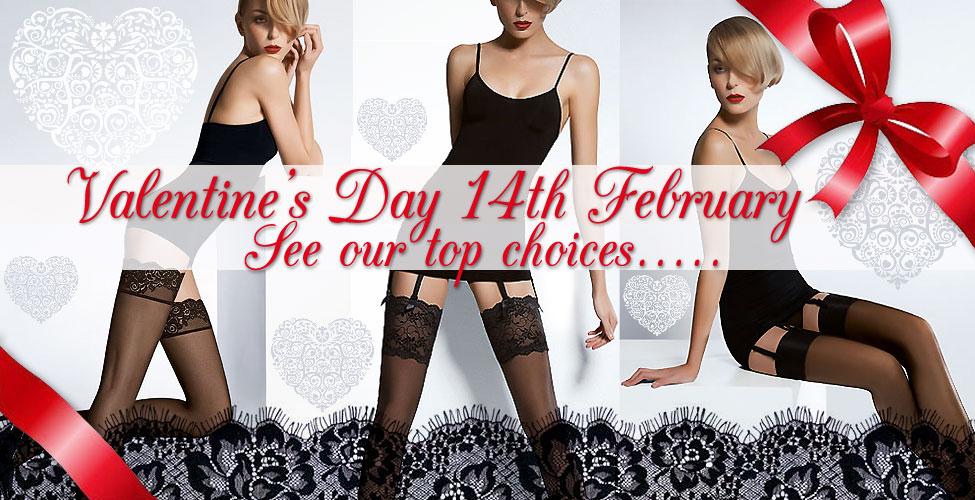 Valentines Day hosiery