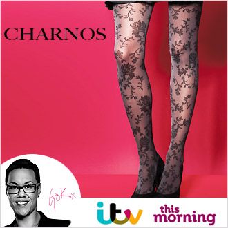 As Seen On TV: Charnos Flower Patterned Opaque Tights