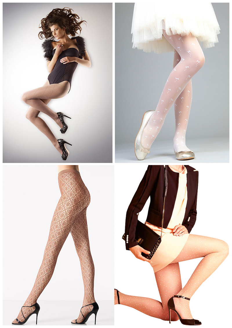 Hosiery for Weddings and occasion wear - patterns