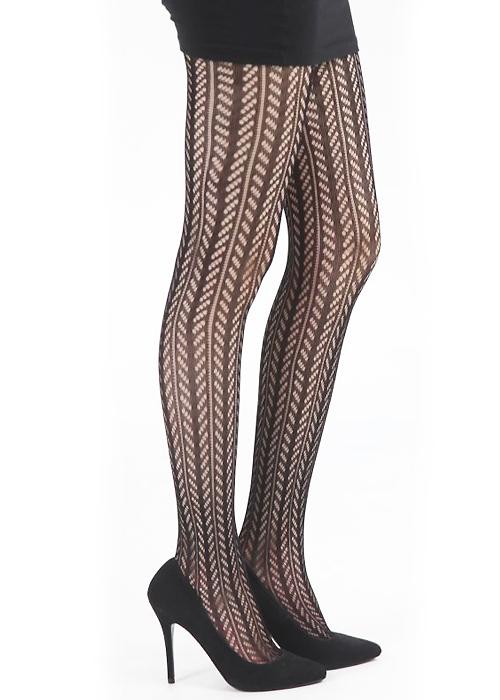 Pamela Mann Chevron Knit Tights