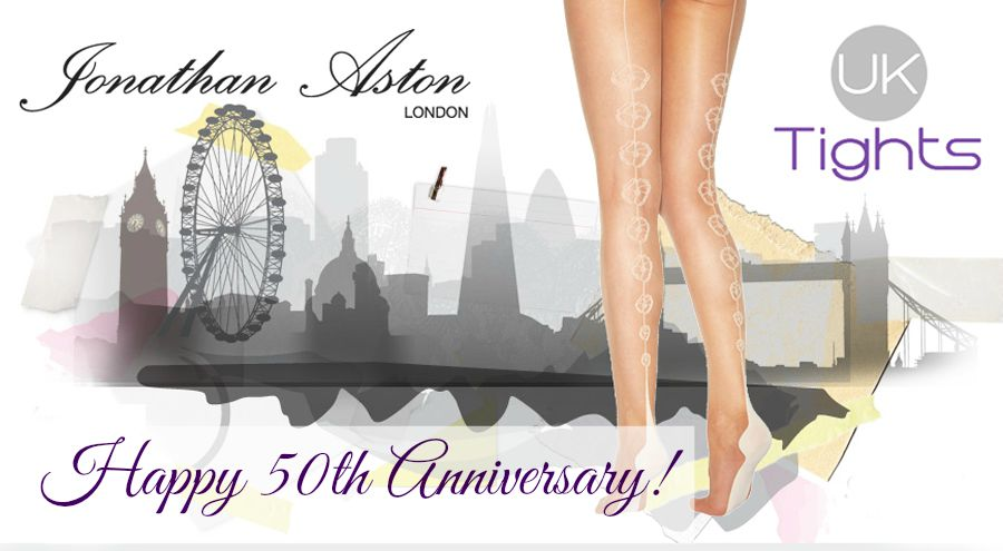 UK Tights Jonathan Aston London 50th Anniversary Banner