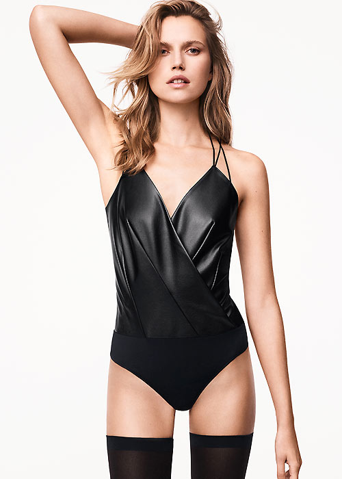 Wolford Leather Bodysuit
