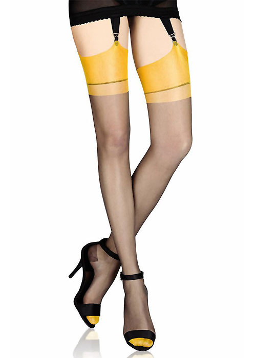 0c69ede8d Cervin Capri Bicolore Stockings In Stock At UK Tights