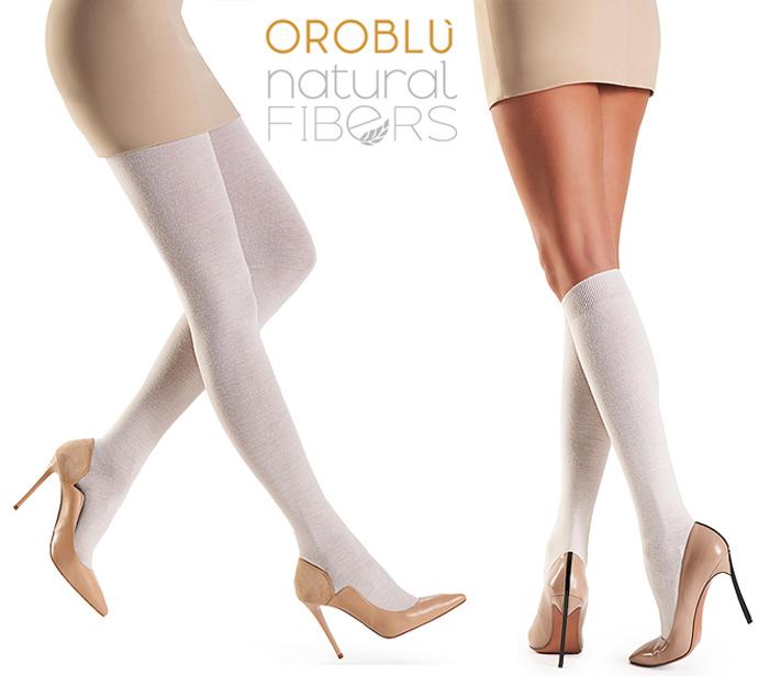 oroblu natural fibres fine cotton wool