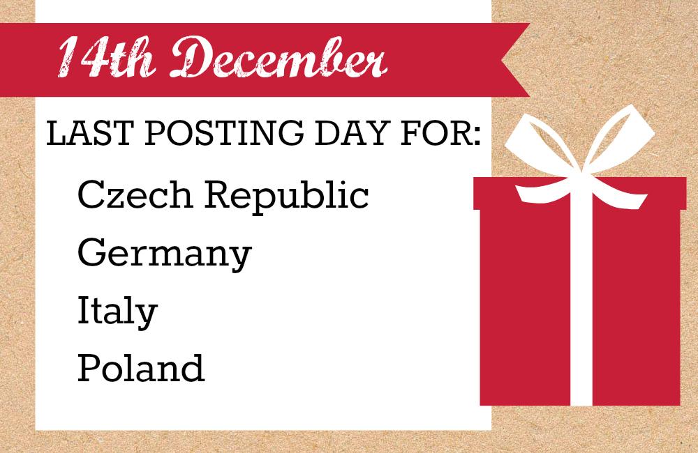 last christmas posting day for australia