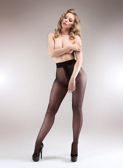 Miss Matisse 50 Denier Opaque Crotchless tights
