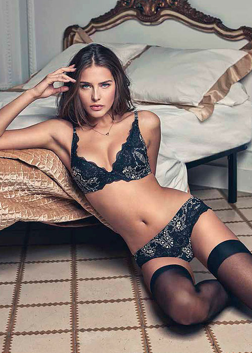 Promise Luxury Nocturno Monochrome lace lingerie set