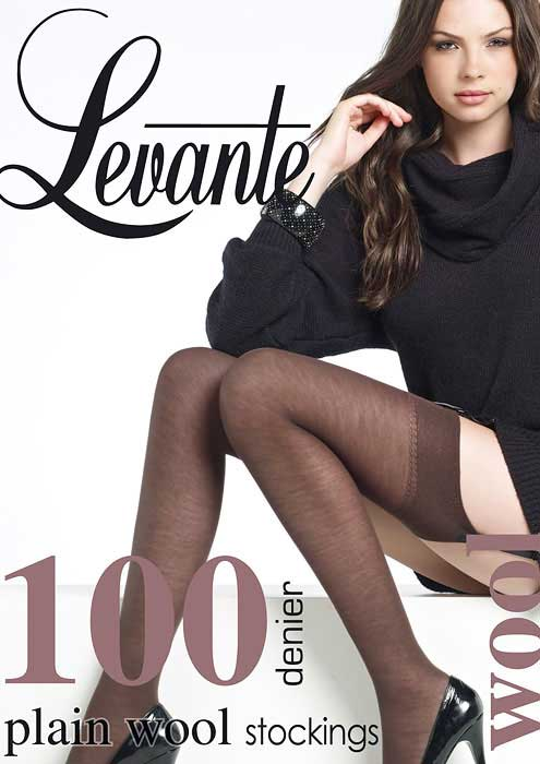 Levante Plain Wool Stockings 100 Denier