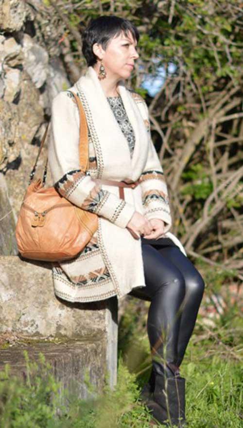 Suzy Turner Leather Look Leggings