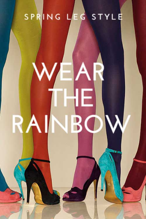 Wear the Rainbow Legwear Style Banner