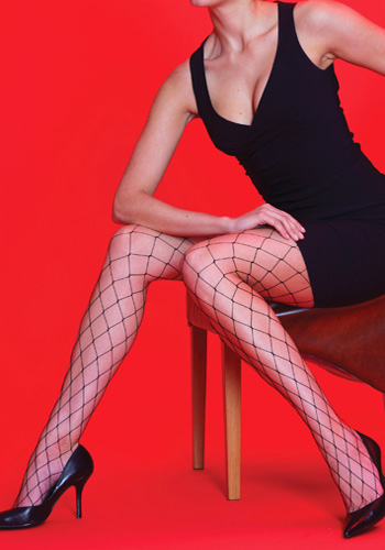Silky whale fishnet tights
