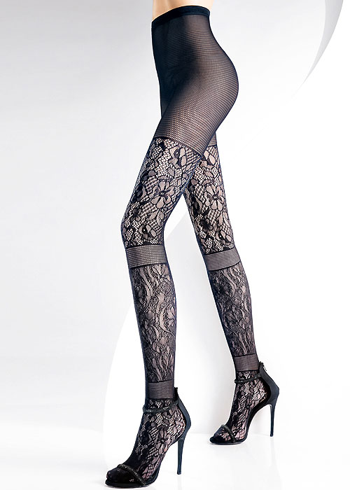 Pierre Mantoux Vanity Tights Flower Lace