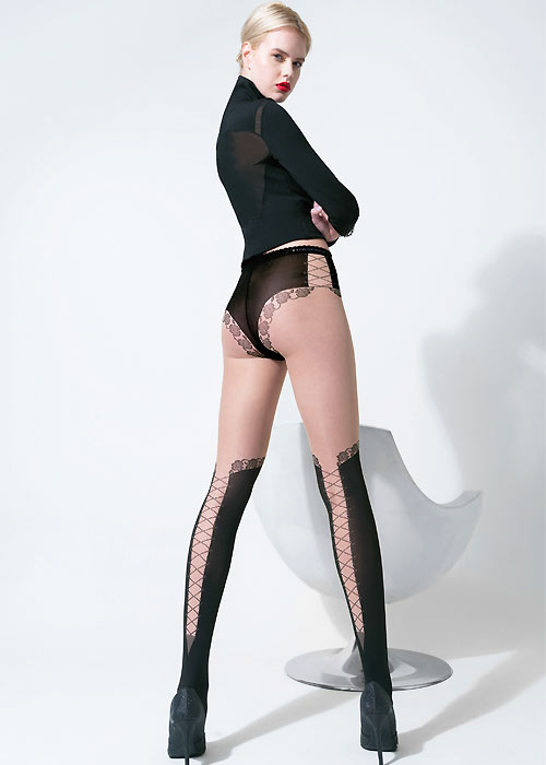 Trasparenze Larnaca Tights with mock hold up effect