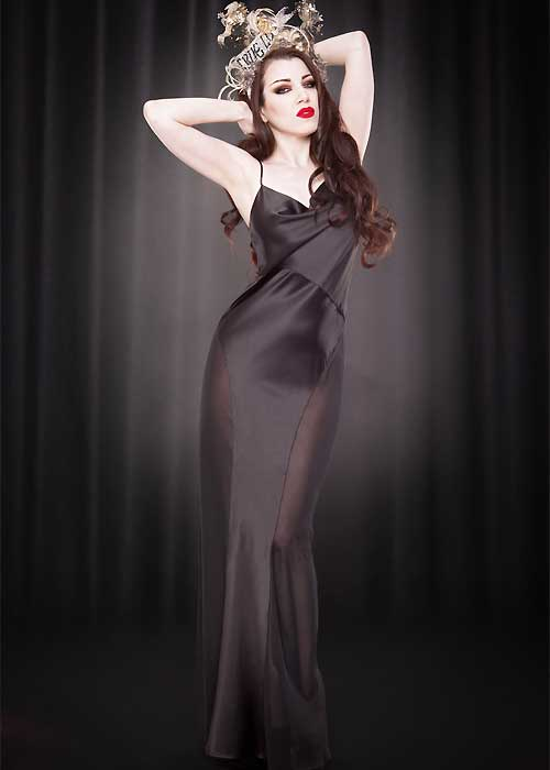 kiss me deadly grace satin gown