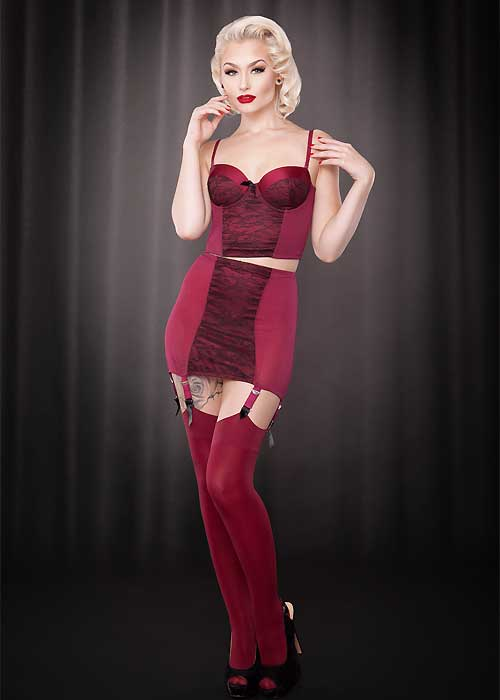 kiss me deadly pankurst burgundy girdle