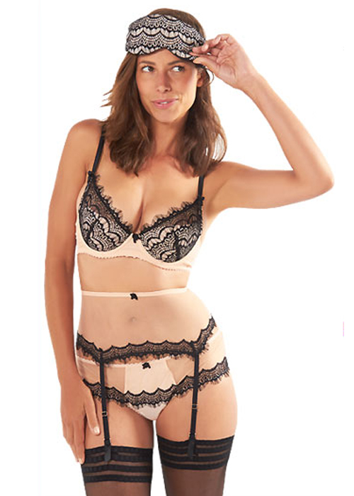 Mimi Holliday Bisou Bisou Zoo lingerie set with eyemask