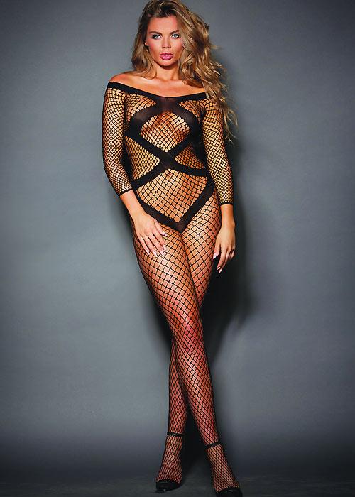 f258bb69803 Dreamgirl Long Sleeved Fishnet Bodystocking