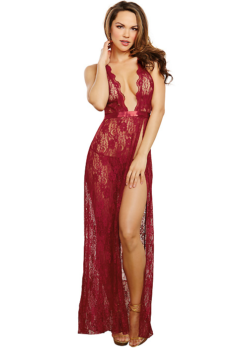 Dreamgirl Red Lace Gown