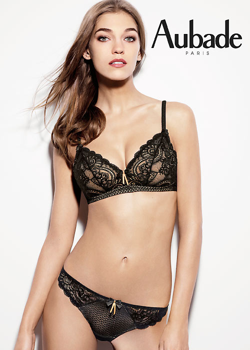 Aubade Art Of Kissing Triangle Bra and matching thong brief