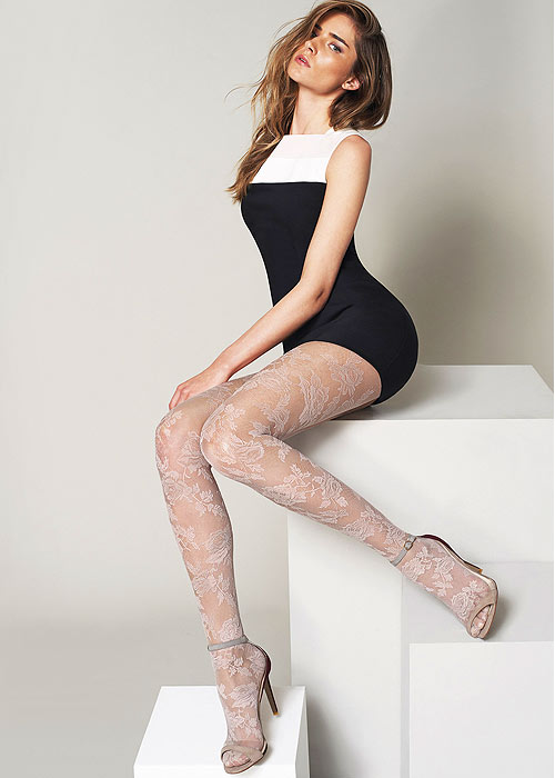 Oroblu Katrina Floral lace tights