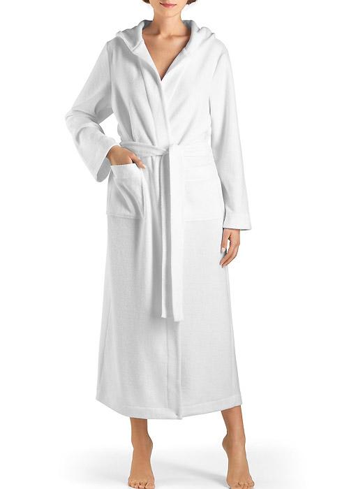Hanro long hooded robe