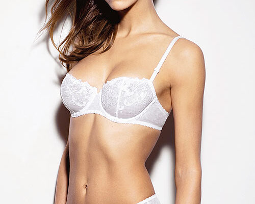 Aubade Wandering Love Half Cup Bra and brief white