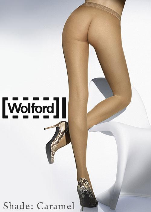 Wolford Sheer Matt 15 denier Tights in caramel colour