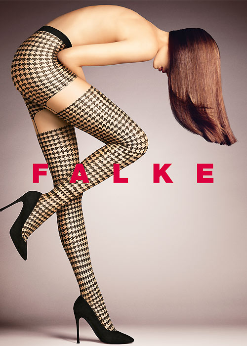 Houndstooth patterned tights by Falke
