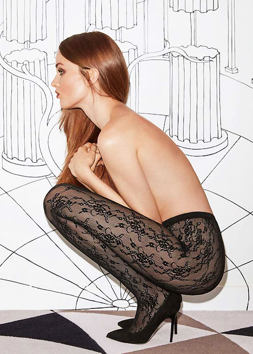 Stunning Fogal luxury lace tights