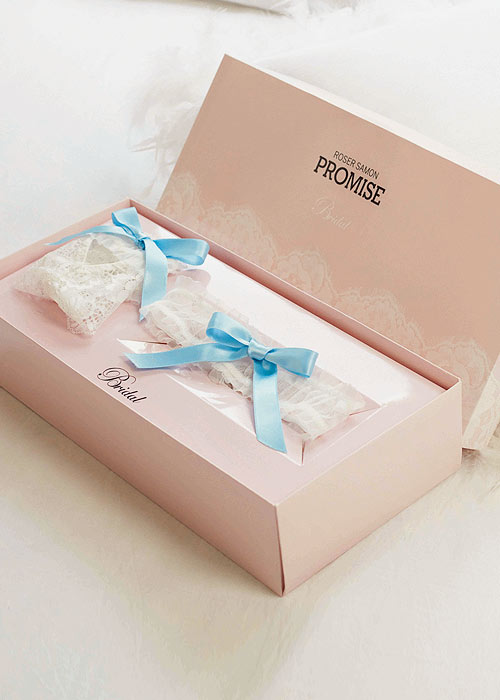 Promise Bridal Garter Band And Brief Gift set