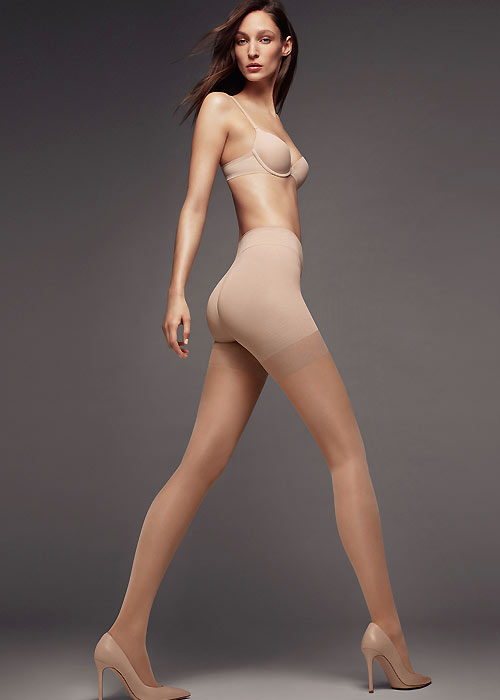 Wolford Pure Semi Opaque Strong support tights nude