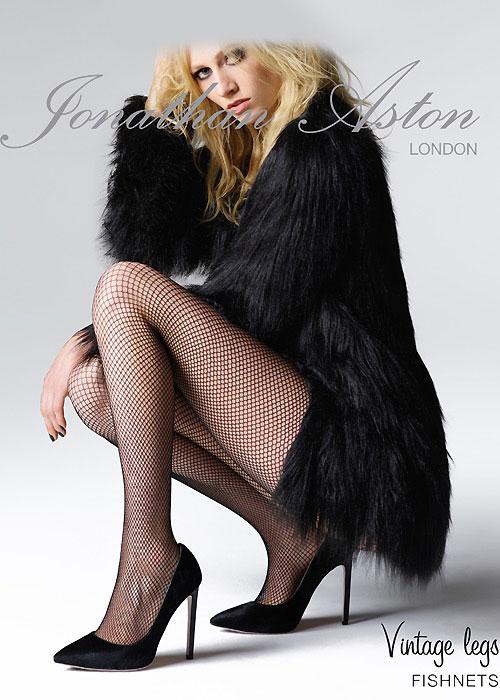 Black Fishnets tights by Jonathan Aston London