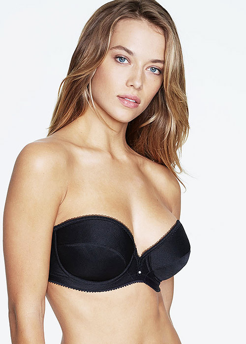 Dominique Margeau Low Plunge Strapless Bra Black