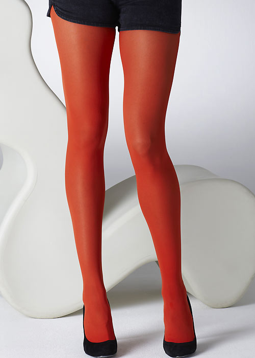 Gipsy 40 denier Red Opaque Tights