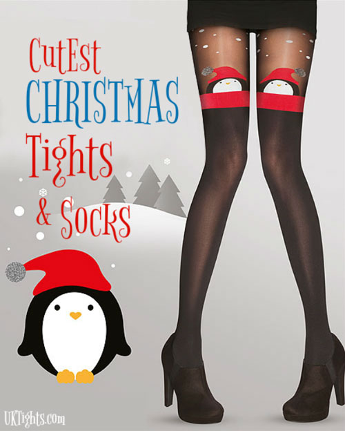 Penguin /& Elves Festive Christmas Tights Pretty Polly Santa