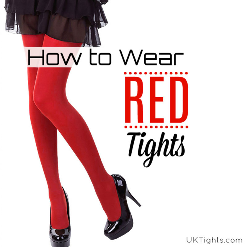 How to Wear Red Tights
