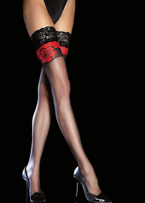 Fiore Yara Floral Hold Ups