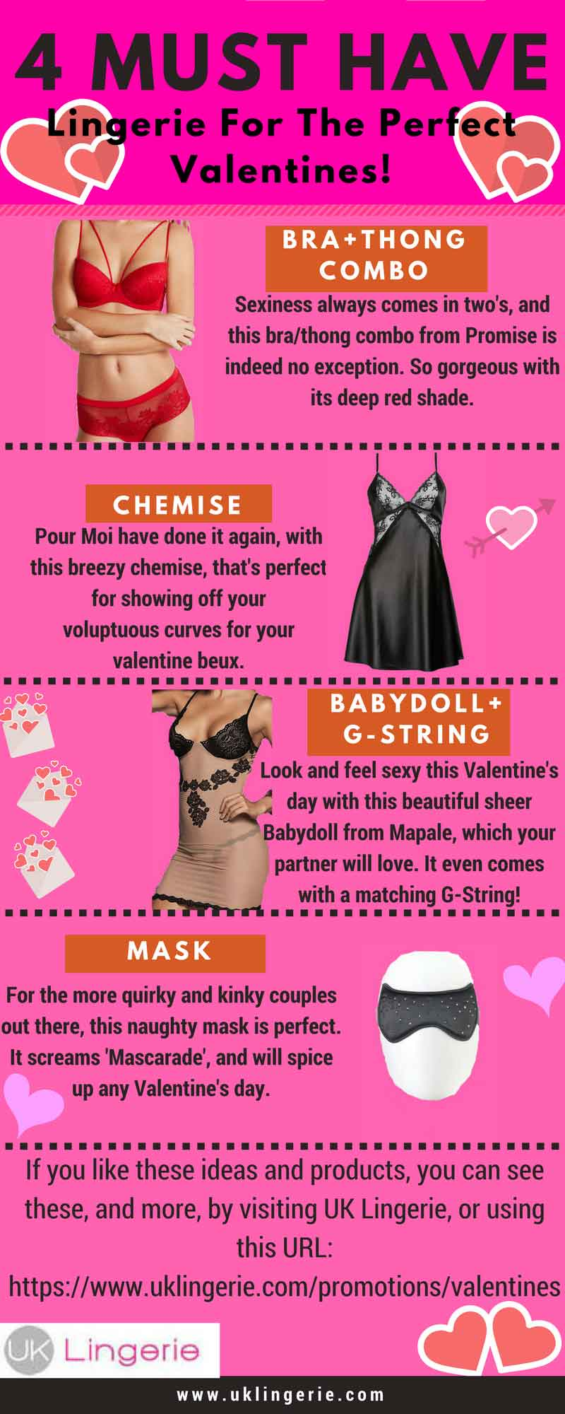 Must Have Lingerie For Valentines Day infographic