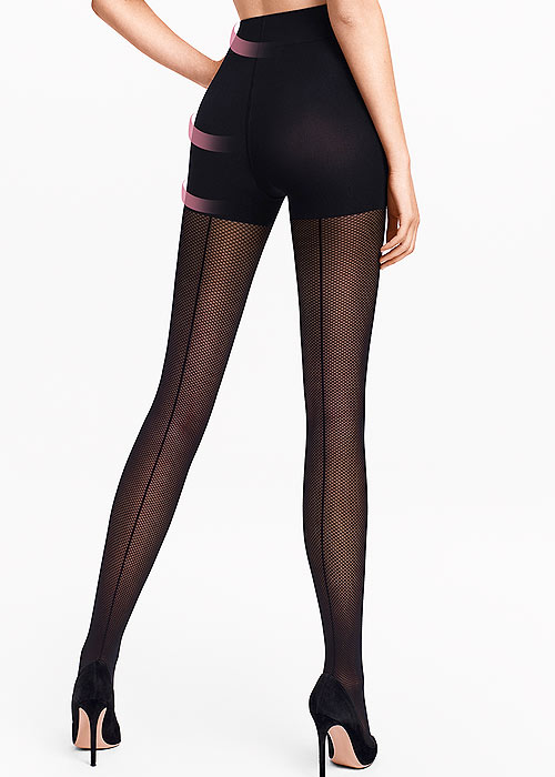 Wolford Whitney Control Top Fishnet Tights