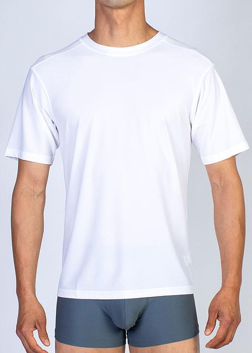 ExOfficio Mens Sport Mesh Crew Neck white