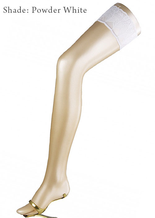 Falke Lunelle 8 Denier Contrast Top Bridal Hold Ups