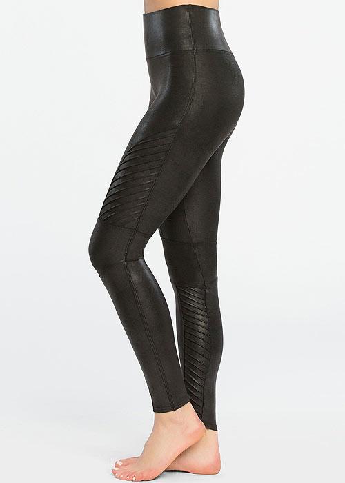 Spanx Faux Leather Moto Leggings2
