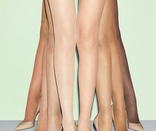 Tan//Beige Semi Opaque Glossy Tights Pantyhose Hosiery